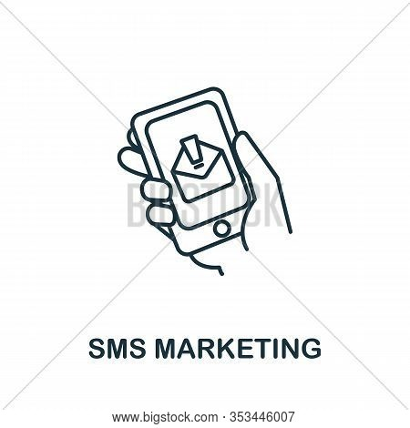Sms Marketing Icon From Digital Marketing Collection. Simple Line Element Sms Marketing Symbol For T