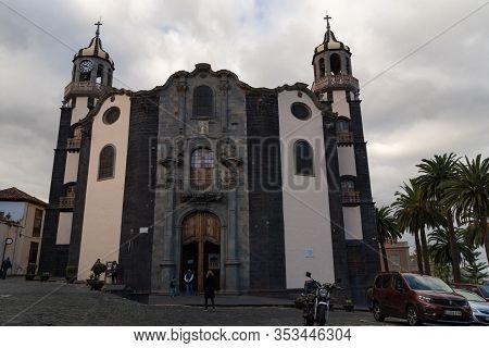 La Orotava, Spain -january 12, 2020:church Of Nuestra Senora De La Concepcion (church Of Our Lady Of