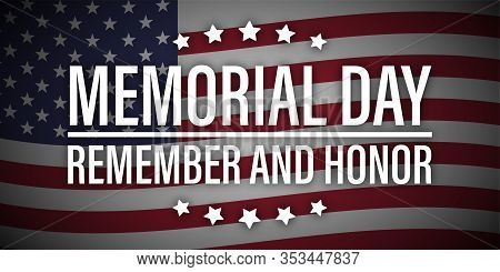 Happy Memorial Day Remember Honor Usa Flag Vector
