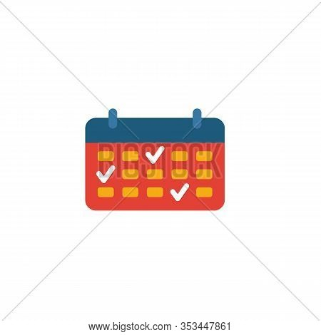 Schedule Planning Icon. Flat Creative Element From Business Management Icons Collection. Colored Sch