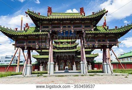Winter Palace Of The Bogd Khan In Ulan-bator, Mongolia. Bogd Khan Palace Of The Emperor Of Mongolia