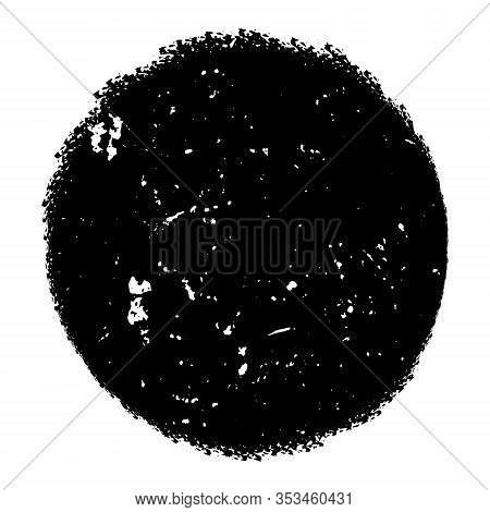 Distressed Circle Stamp Vector Black Color Overlay Textures. Thin And Bold Grunge Distress Template