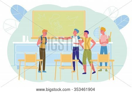 School, Hooligans Company Excellent Student. After Lesson In Class, Popular Boys Waited For An Outca