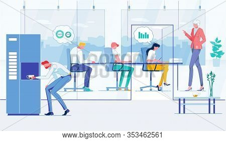 Staff Meeting, Briefing Flat Vector Illustration. Businesspeople, Business Conference Participants F
