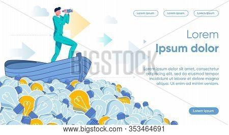 Businessman Cartoon Character Choosing Personal Career Or Company Development Direction Among Ideas