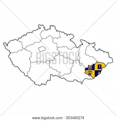 Zlin Region On Administration Map Of Czech Republic