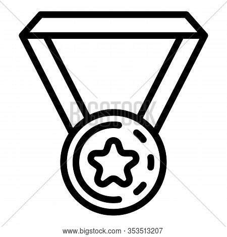 Excellence Medal Icon. Outline Excellence Medal Vector Icon For Web Design Isolated On White Backgro