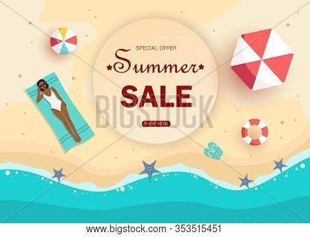 Sale of summer gift certificates. Hello Summer, summer time, summer day, summer day background, summer banners, summer flyer, summer design Unusual summer design of the summer coupon used for invitation, summer gift card and  summer certificate. Vector su