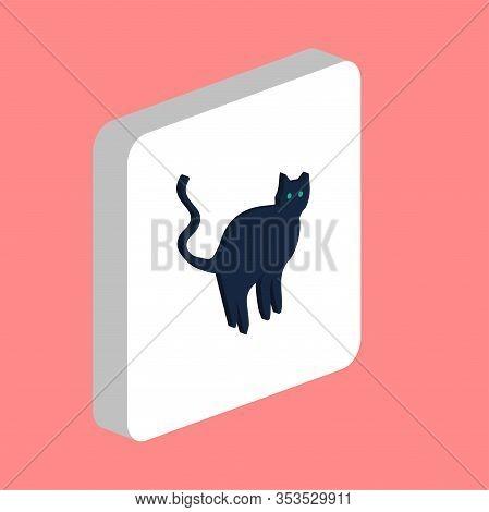 Evil Cat Simple Vector Icon. Illustration Symbol Design Template For Web Mobile Ui Element. Perfect