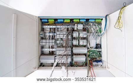 new automated system of electric power supply and distribution. Electric boxes with high-voltage equipment. The scheme for supplying electric power through the main and reserve channels