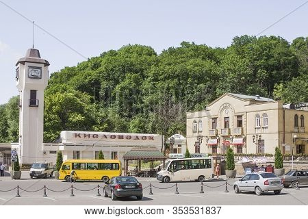 Russia, Kislovodsk - July 01, 2017; Kislovodsk City Railway Station. View Of The City Station On A C