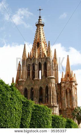 Vintage Catholic Cathedral, Gothic Style