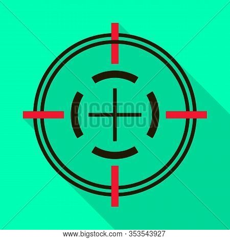 Sniper Sight Vector Icon.flat Vector Icon Isolated On White Background Sniper Sight.