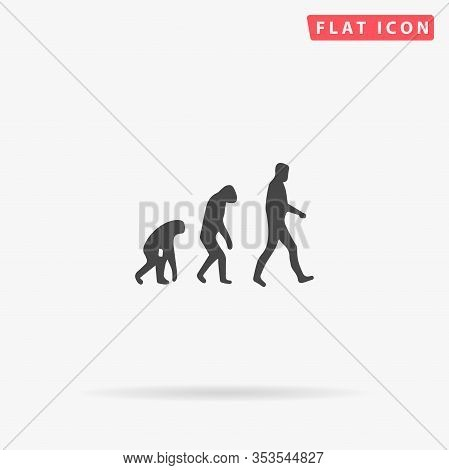 Biology Evolution Flat Vector Icon. Glyph Style Sign. Simple Hand Drawn Illustrations Symbol For Con