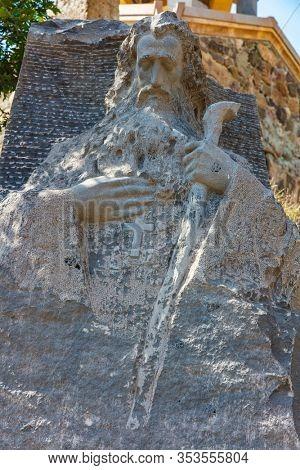 Ardvi saint hovhannes statute monastery area landscape landmark of Lorri Armenia eastern Europe