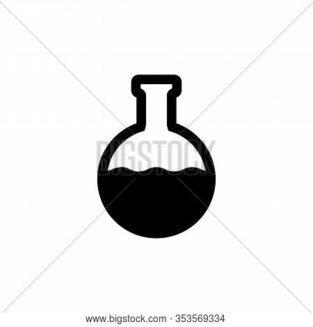 Simple Flask, Lab Test Tube Icon Isolated