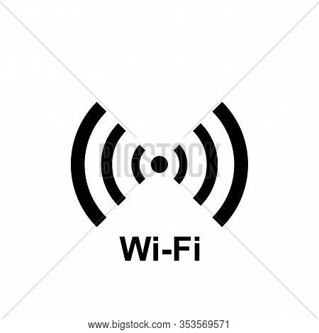 Simple Wifi Icon Or Sign, Hot Spot Illustration