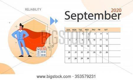 Real Estate Advantage Annual Calendar September. Idea Of House For Sale