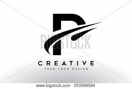 P, Logo, Swoosh, Letter, Design, Creative, Typography, Logo, Corporate, Business, Concept, Vector, S