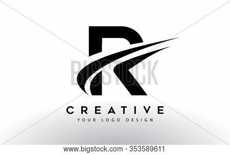 R, Logo, Swoosh, Letter, Design, Creative, Typography, Logo, Corporate, Business, Concept, Vector, S