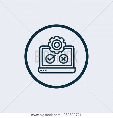 Test Icon Isolated On White Background From Agile Collection. Test Icon Trendy And Modern Test Symbo