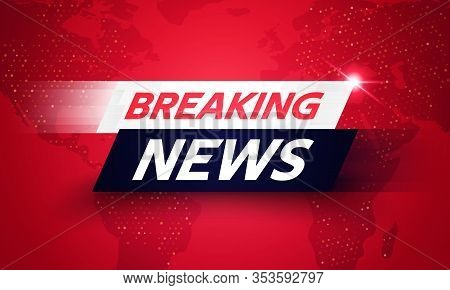 Vector Illustration Breaking News Background, World Global Tv News Banner Template