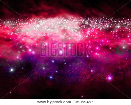 galaxy in outer space with beautiful colors poster