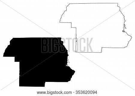 Jackson County, Florida (u.s. County, United States Of America, Usa, U.s., Us) Map Vector Illustrati