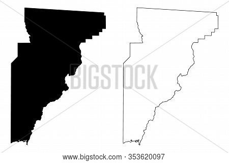 Jefferson County, Florida (u.s. County, United States Of America, Usa, U.s., Us) Map Vector Illustra