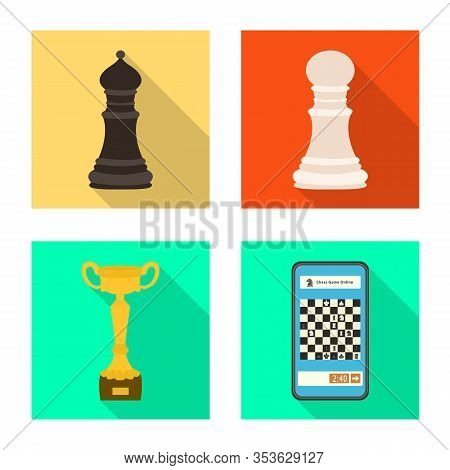 Isolated Object Of Checkmate And Thin Symbol. Collection Of Checkmate And Target Stock Symbol For We