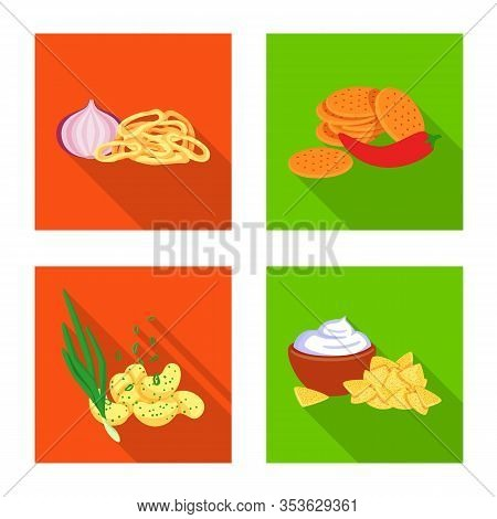 Isolated Object Of Taste And Seasonin Sign. Collection Of Taste And Organic Stock Symbol For Web.
