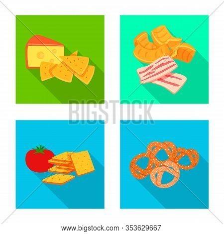 Vector Illustration Of Taste And Seasonin Logo. Set Of Taste And Organic Stock Vector Illustration.