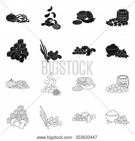 Isolated Object Of Taste And Seasonin Logo. Set Of Taste And Organic Stock Vector Illustration.