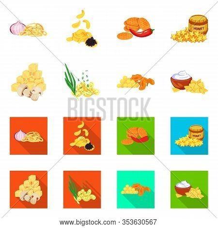 Isolated Object Of Taste And Seasonin Symbol. Set Of Taste And Organic Stock Symbol For Web.