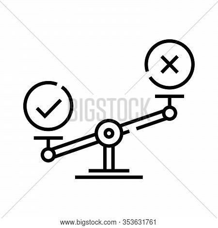 Scales Line Icon, Concept Sign, Outline Vector Illustration, Linear Symbol.