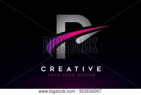 P, Logo, Swoosh, Letter, Design, Creative, Typography, Logo, Corporate, Business, Concept, Vector, S