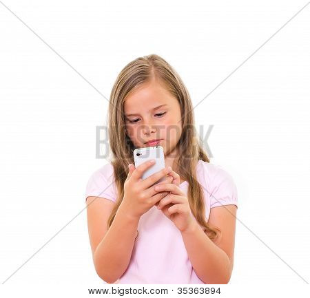 Girl With Mobile Phone.