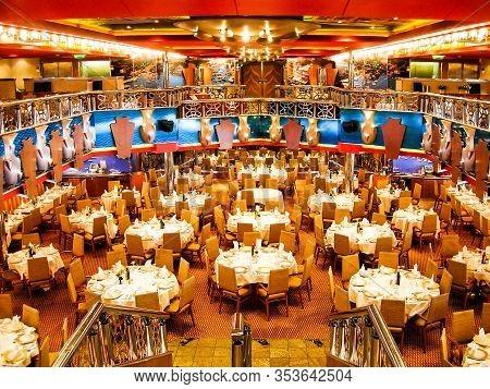 "Kiel, Germany - June 1, 2009: Main Restaurant ""ristorante Portofino"