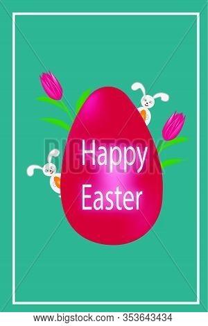 Easter Eggs. Happy Easter Illustration. Multi-colored Easter Eggs. Easter. Easter Background. Easter