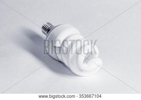 Economical Fluorescent Lamp Black And White Photo