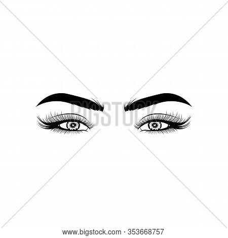 Inspiration Woman Eye, The Eye Logo,eyes Art, Human Eye, Eye Close Up - Vector