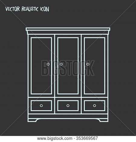 Cupboard Icon Line Element. Vector Illustration Of Cupboard Icon Line Isolated On Clean Background F