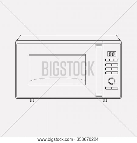 Microwave Icon Line Element. Vector Illustration Of Microwave Icon Line Isolated On Clean Background