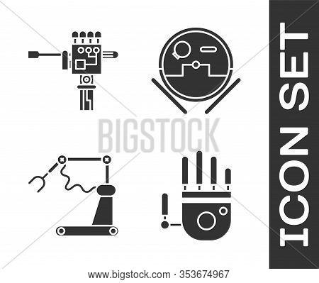 Set Mechanical Robot Hand, Mechanical Robot Hand And Screwdriver, Industrial Machine Robotic Robot A