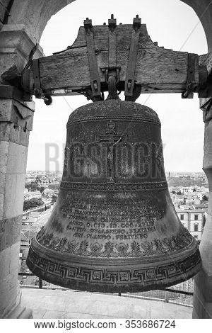 Florence, Italy - April 08 2011: Bell In Giottos Bell Tower, Florence, Italy
