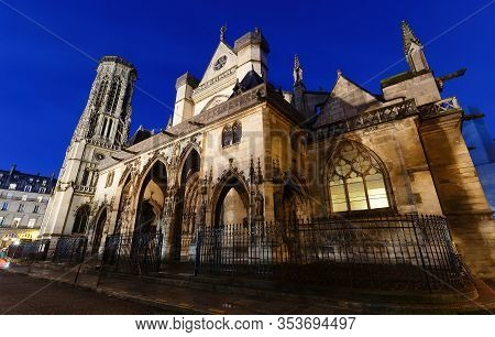 The Church Of Saint-germain-lauxerrois Is A Roman Catholic Church Situated At The Louvre Square In P