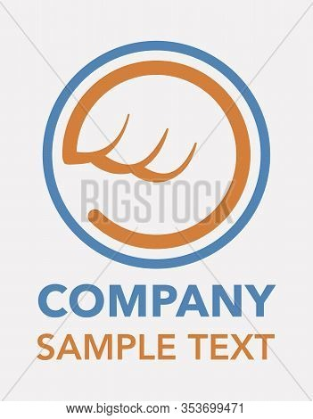 Delivery Company Logo, Wings Circle Sample Design