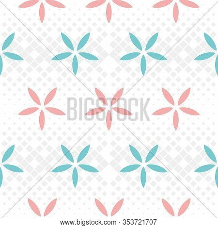 Flowers Nature Collection Illustration Seamless Pattern Background 04