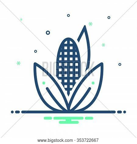 Mix Icon For Corn Maize Agricultural Nutrition Sweetcorn Popcorn