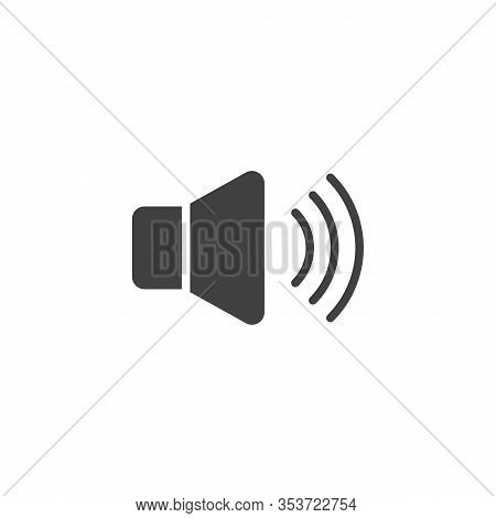 Sound Speaker Vector Icon. Voice Volume Filled Flat Sign For Mobile Concept And Web Design. Volume U